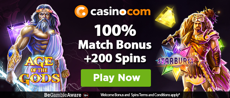Casino.com New Player Signup Bonus